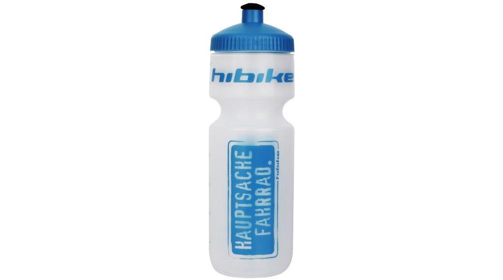 HIBIKE Hauptsache Fahrrad. Weithals Trinkflasche 671ml transparent