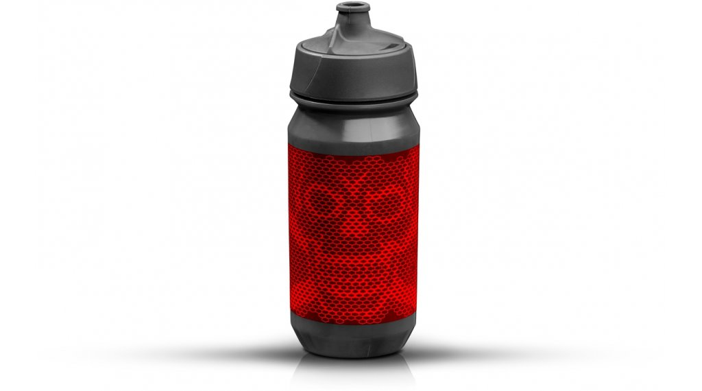 Riesel Design bot:tle Trinkflasche 500ml skull honeycomb red