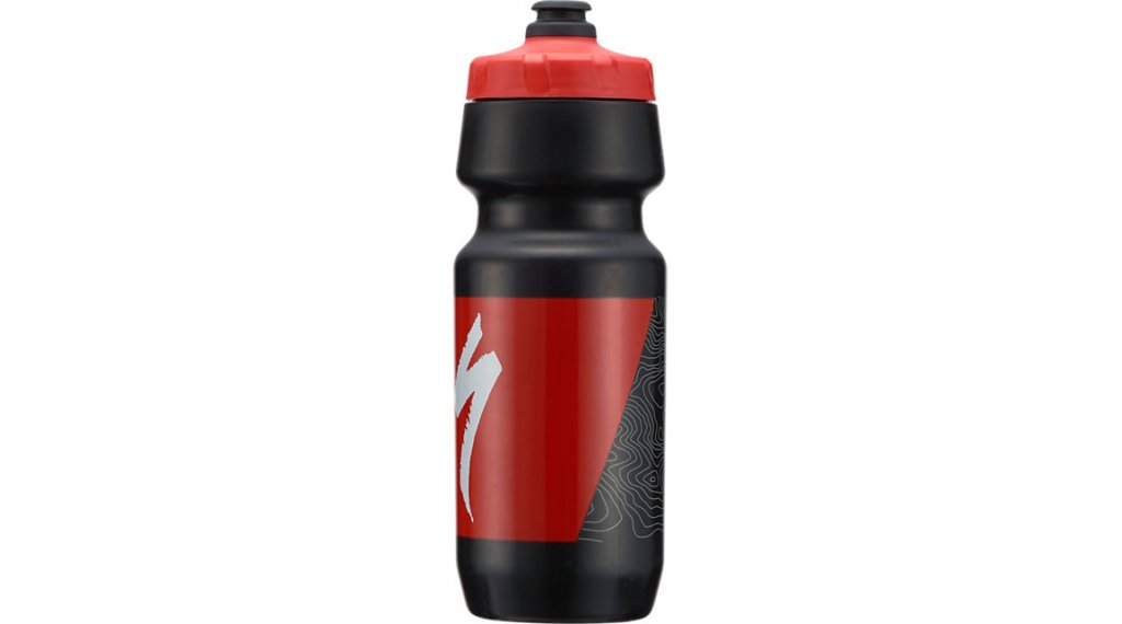 Specialized Big Mouth Trinkflasche 710ml black/red topo block