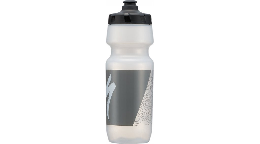 Specialized Big Mouth Trinkflasche 710ml translucent/grey topo block