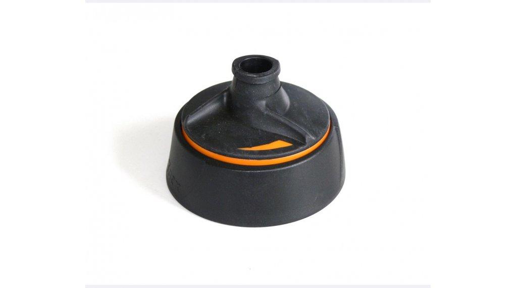Tacx Shanti Trinkflasche Ersatzkappe schwarz/orange mit Membranverschluss