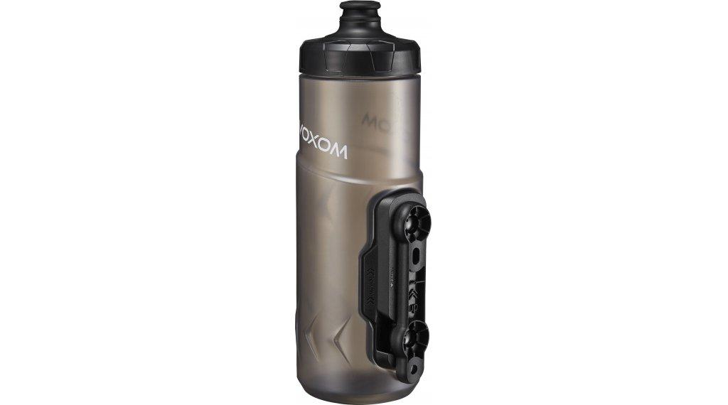 Voxom F5 Wasserflasche 600ml mit Fidlock Magnetflaschenhalter klar-schwarz