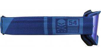 Bell Descender Goggle matte light blue/blue crossbones (REVO blue mirror-lens)
