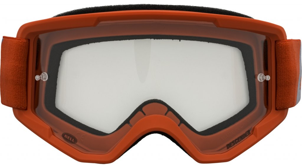 Bell Descender Goggle matte red/gray outbreak (clear-lens)