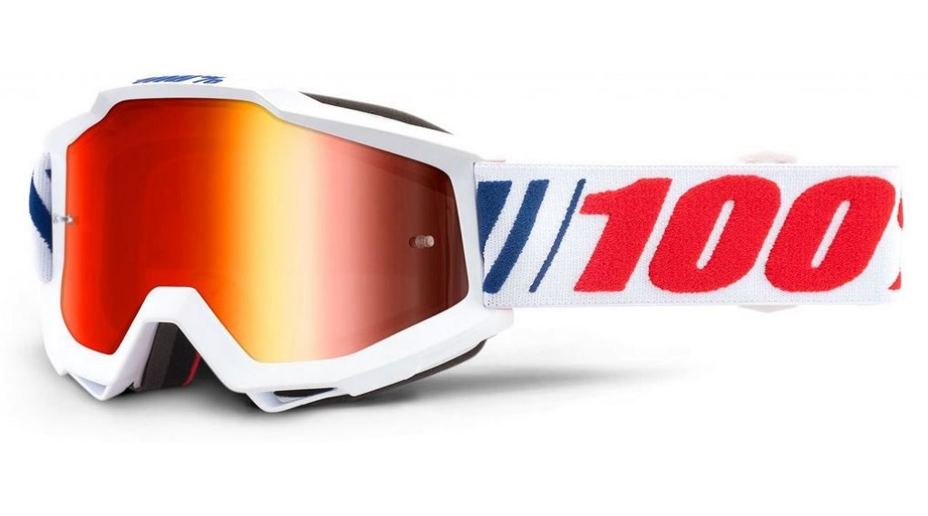 100% Accuri Anti-Fog Mirror Lens Goggle Gr. unisize af066