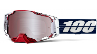 100% Armega Loic Bruni LTD Goggle 型号 均码 (Anti-Fog Hiper mirror lens) white/red/blue