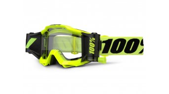 100% Accuri Forecast Goggle fluo yellow (Anti-Fog Clear Lens) incl. 45mm Film système