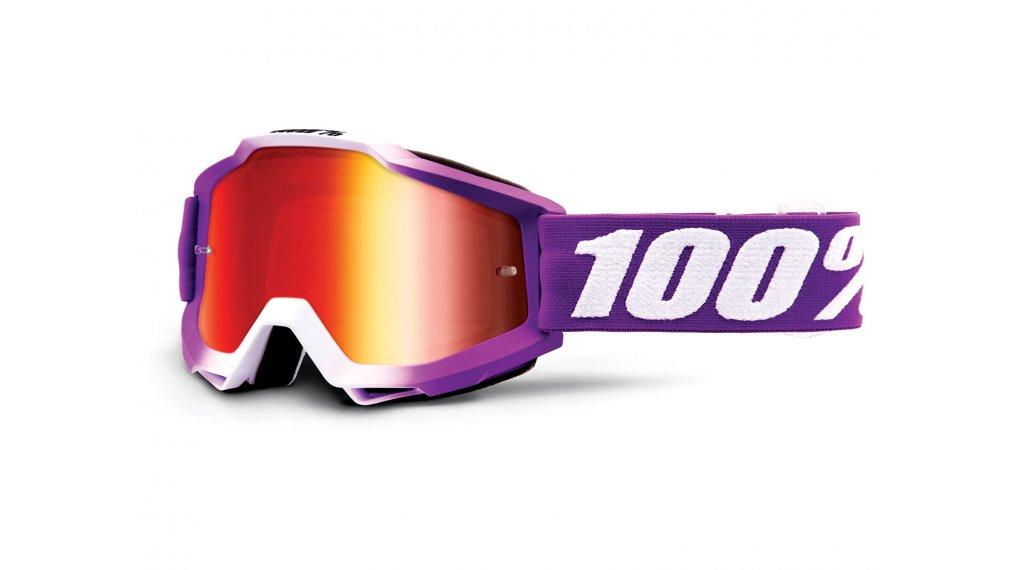 100% Accuri Goggle framboise (Anti-Fog mirror lens)