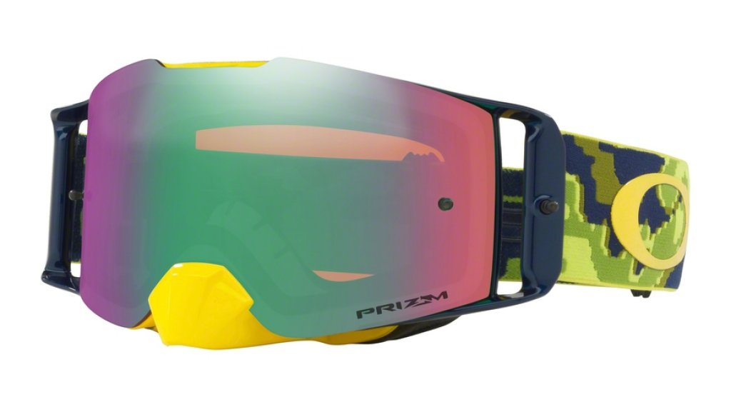 Oakley Front Line PRIZM MX Goggle thermo camo green yellow/prizm mx jade