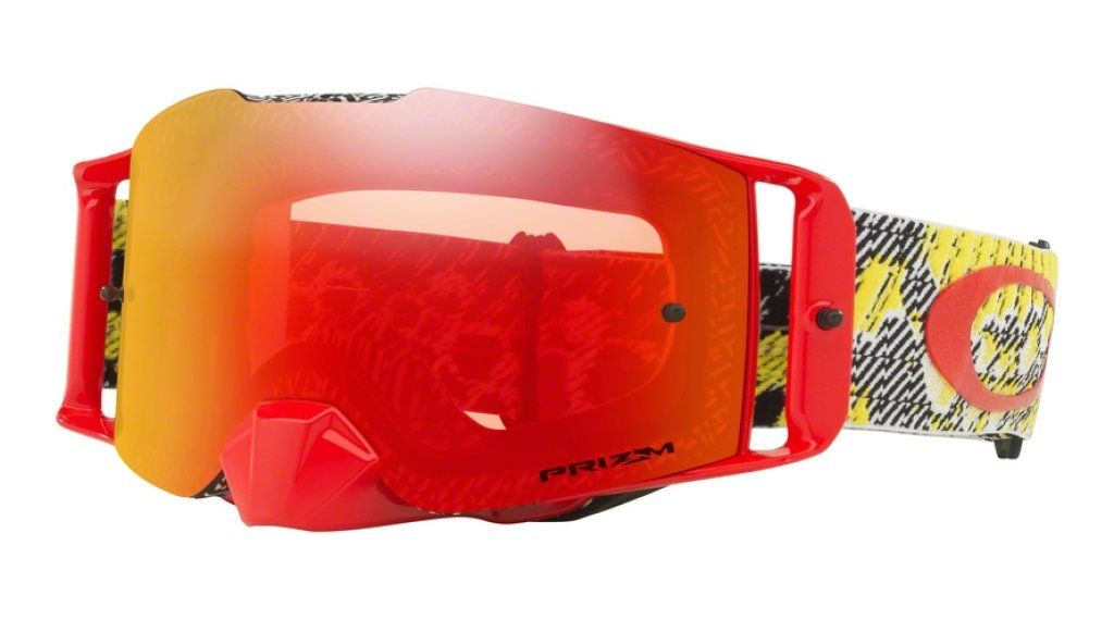 Oakley Front Line PRIZM MX Goggle dazzle dyno red yellow/prizm mx torch