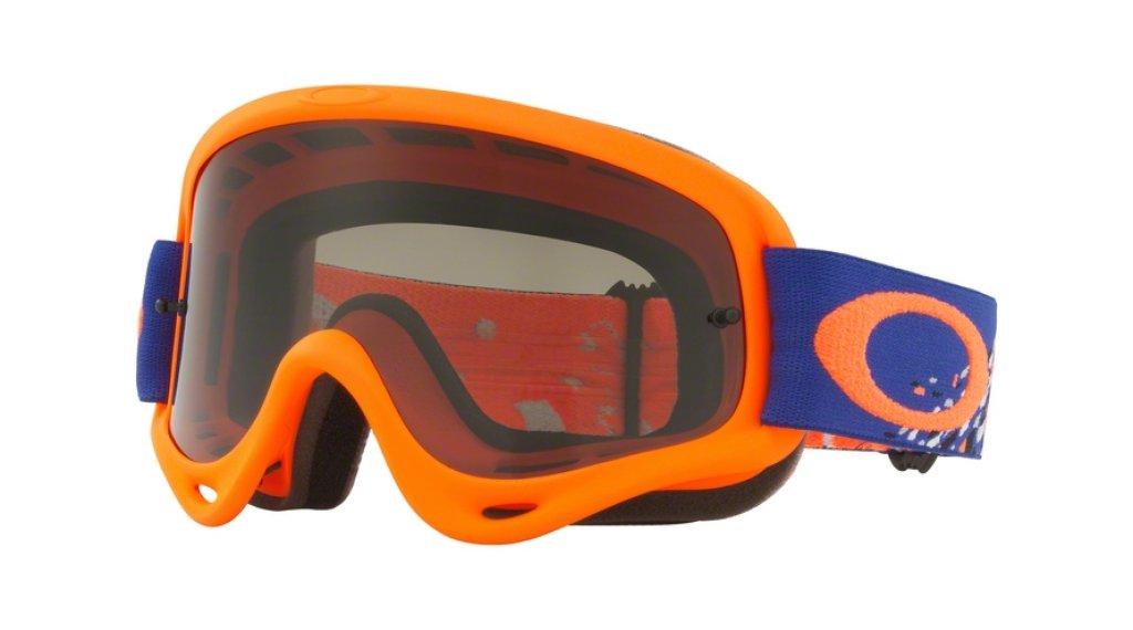 Oakley O Frame MX Goggle checked finish blue 橙色/dark grey
