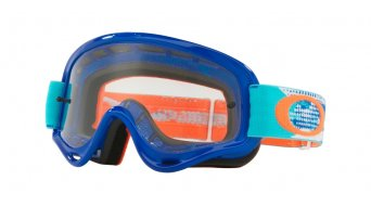 Oakley XS O-Frame MX Goggle treadburn orange blue/clear