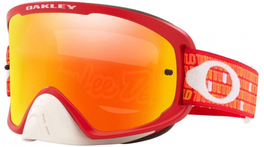Oakley O-Frame 2.0 Pro Mx Goggle Troy Lee Designs Series monogram arancione rosso/fire iridium