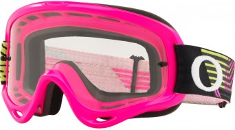 Oakley O-Frame MX Goggle circuit pink green/clear