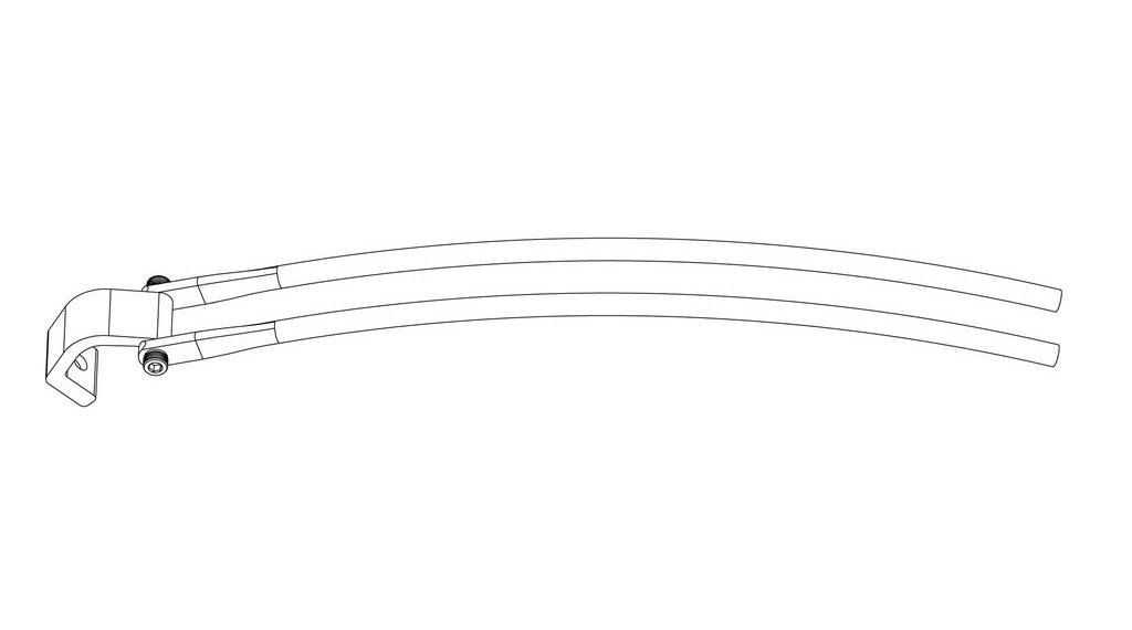 Racktime Standit Sonderstrebenset für Haibike Gepäckträger am Xduro/Sduro