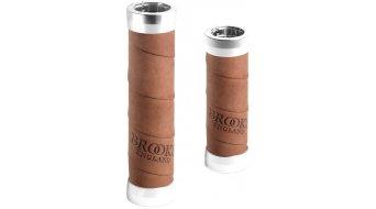 Brooks Slender leather grips long/short dark tan