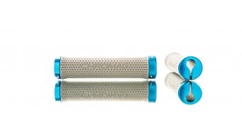 Chromag Basis Lock-On Griffe gray/blue