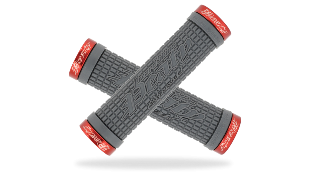 Lizard Skins Peaty Cheers Lock-On Lenkergriffe grey/red