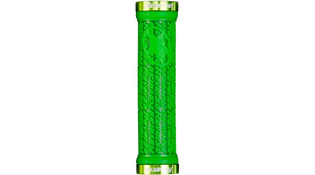 Reverse Stamp Lock-On grips (30mm diameter) green/green