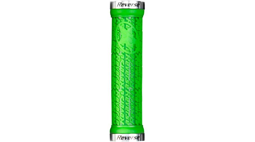 Reverse Stamp Lock-On grips (30mm diameter) green/polish