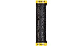 Reverse Stamp Lock-On grips (30mm diameter) black/yellow