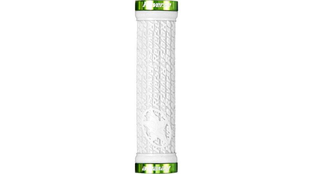 Reverse Stamp Lock-On grips (30mm diameter) white/green