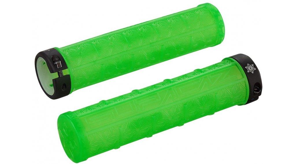 Supacaz Grizips Lock-On 手柄 neon 绿色 clear