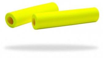 Supacaz Siliconez grips neon yellow