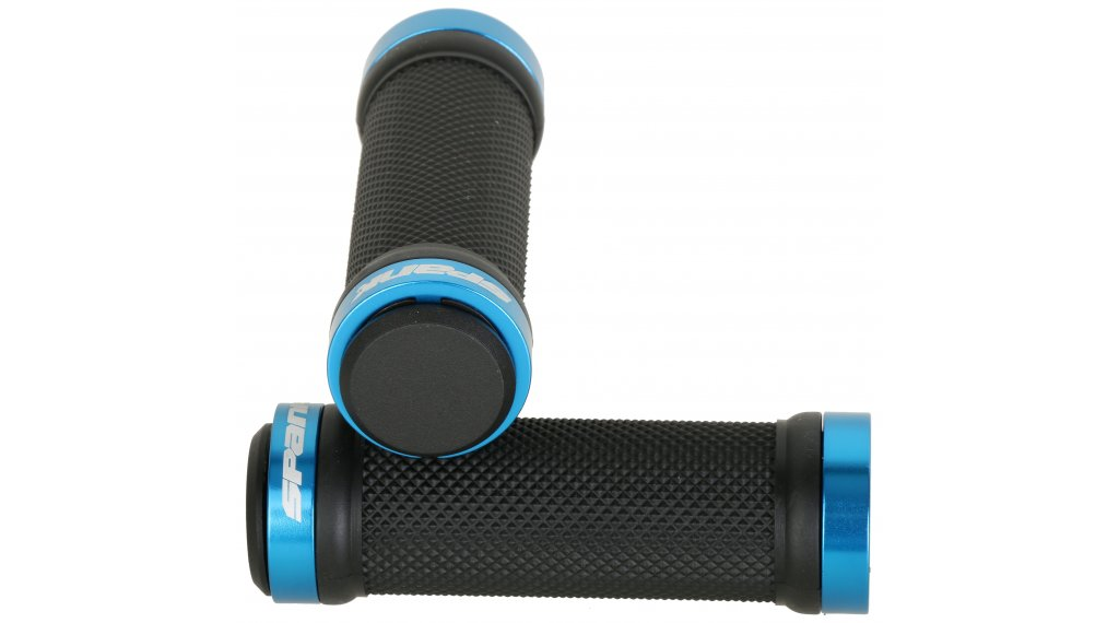Spank Spoon Grom Kinder Lock-On Griffe inkl. Lenkerendstopfen black/blue