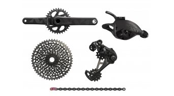 SRAM XX1 Eagle 1x12 groupset (with X01 Eagle cassette in black ) (without bottom bracket ) black/black