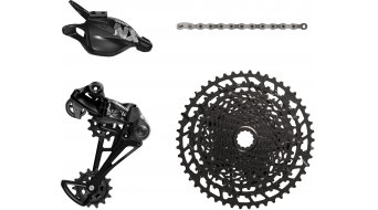 SRAM NX Eagle 12-traps (-speed) upgrade kit (cassette 11-50, derailleur, versnellingshendel(s), ketting 126-schakels) model 2019