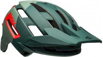 Bell Super Air R Spherical Fahrradhelm Gr. S (52-56cm) matte/gloss green/infrared