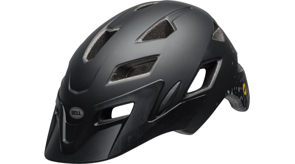 Bell Sidetrack Youth MIPS MTB- helmet kids size  unisize  (50-57cm) fragments  mat  black/silver