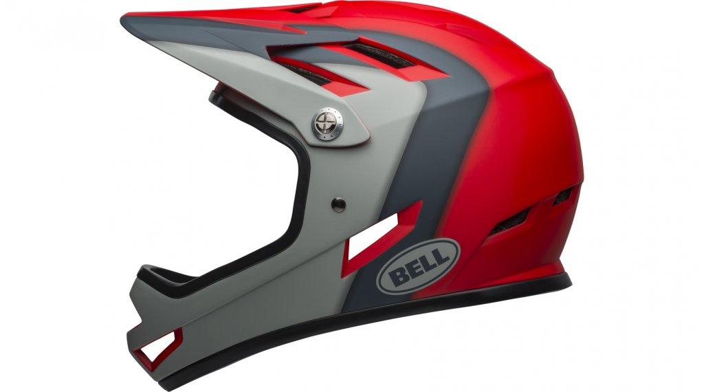 Bell Sanction DH Fullface-Helm Gr. S (52-54cm) presences matte crimson/slate/dark gray Mod. 2020