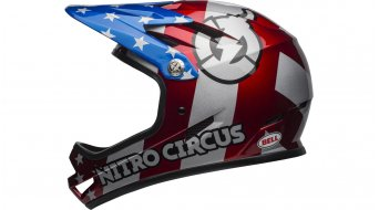 Bell Sanction DH Fullface-Helm Gr. S (52-54cm) red/silver/blue Nitro Circus Mod. 2020