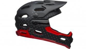 Bell Super 3R MIPS DH(速降)-Enduro头盔 型号 S (52-56厘米) virago 亚光黑/white/crimson 款型 2019