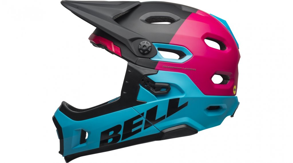 Bell Super DH(速降) MIPS DH(速降)-Enduro头盔 型号 S (52-56厘米) matte/gloss black/berry/blue 款型 2019