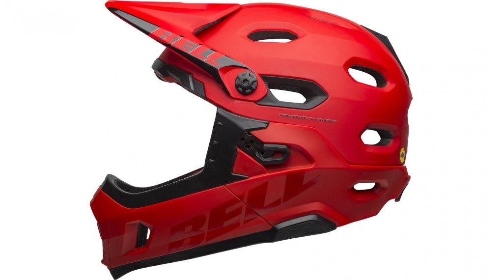 Bell Super DH MIPS DH-Enduro-Helm Gr. S (52-56cm) matte/gloss crimson/black Mod. 2019