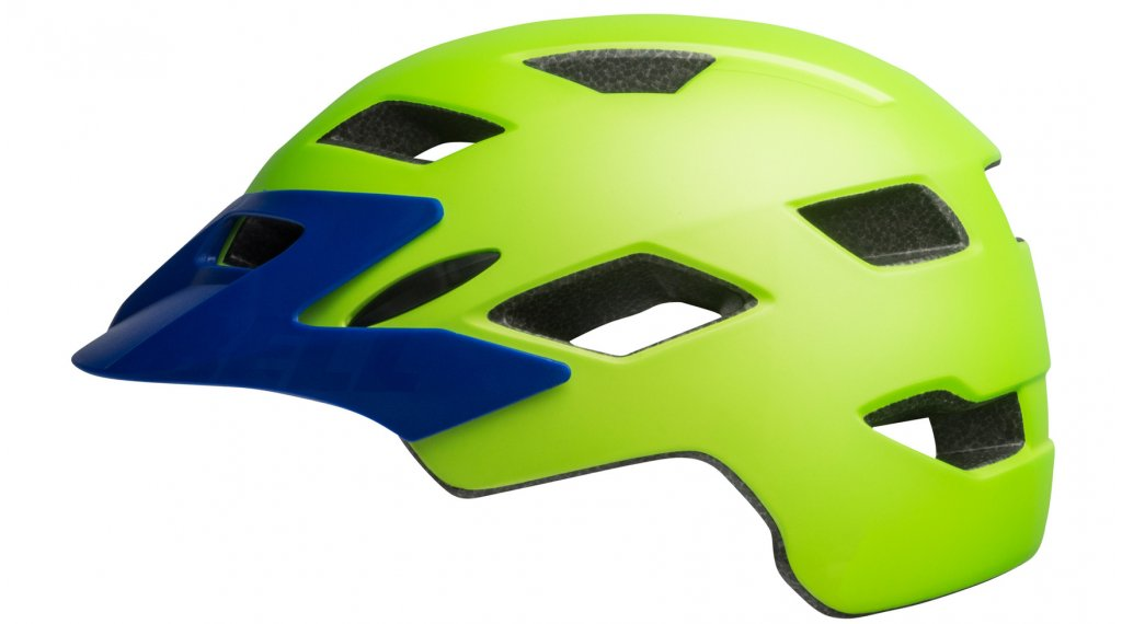 Bell Sidetrack Child enfants-casque taille unique child (47-54cm) mat bright green/blue Mod. 2019
