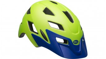 Bell Sidetrack Youth 儿童头盔 型号 均码 youth (50-57厘米) matte bright green/blue 款型 2019