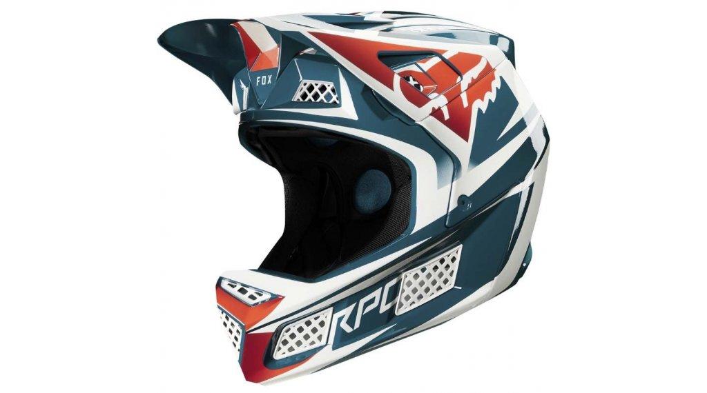 Fox Rampage Pro Carbon Fullface Helm Gr. M blue Mod. 2020