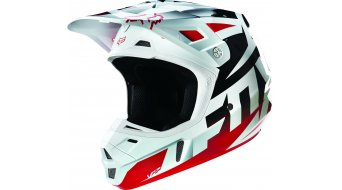 FOX V2 Race casco uomini casco MX mis. S (54-56cm) red/white