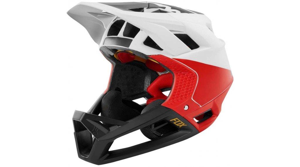 eb89860bd8025 Fox Proframe Pistol casco integral casco tamaño L blanco negro rojo