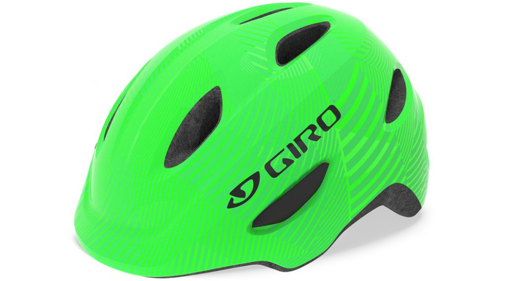 Giro Scamp MIPS Kinder-Helm Gr. XS (45-49cm) green/lime lines