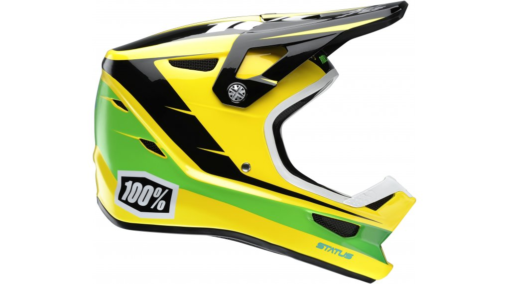 100% Status DH Youth Helm Fullface-Helm Kinder-Helm Gr. L D-Day Yellow