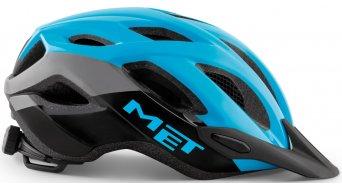 MET Crossover Fahrradhelm Gr. M (52-59cm) cyan black/glossy