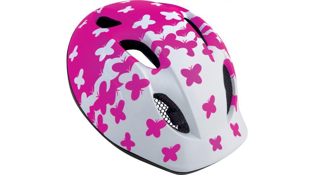 MET Buddy Kinder-Helm Gr. unisize (46-53cm) white pink butterflies/matt
