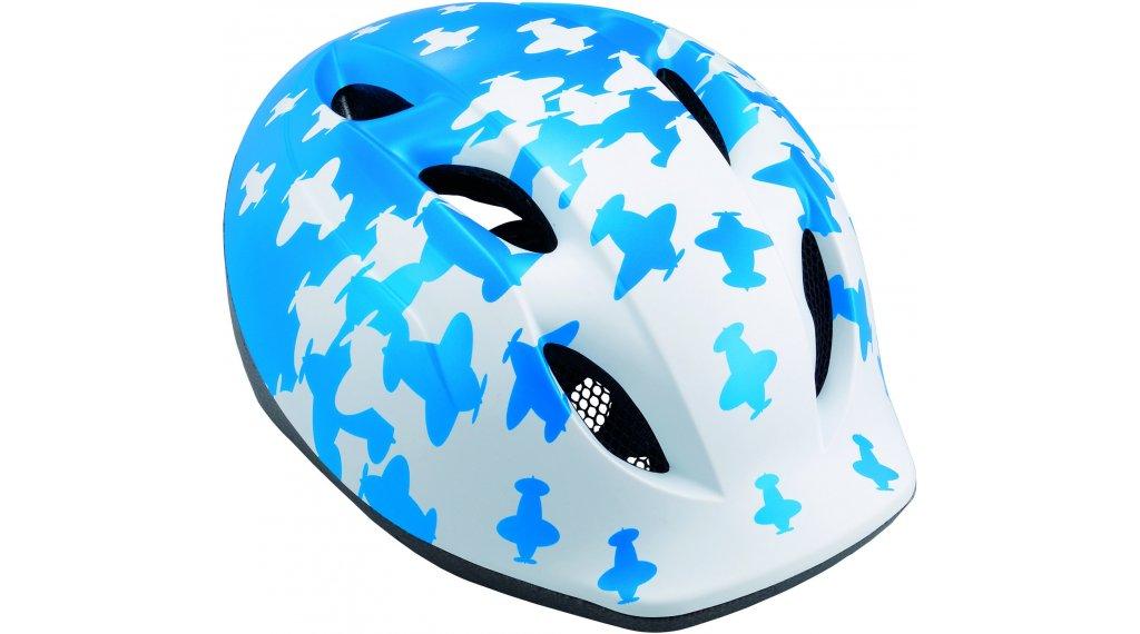 MET Buddy Kinder-Helm Gr. unisize (46-53cm) white blue airplanes/matt