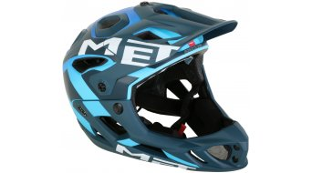 MET Parachute All Mountain/Enduro Fullface-Helm Gr. S (51-56cm) blue shaded cyan/matt