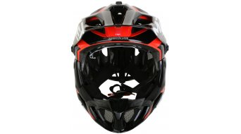 MET Parachute All Mountain/Enduro Fullface-Helm Gr. S (51-56cm) black red/glossy